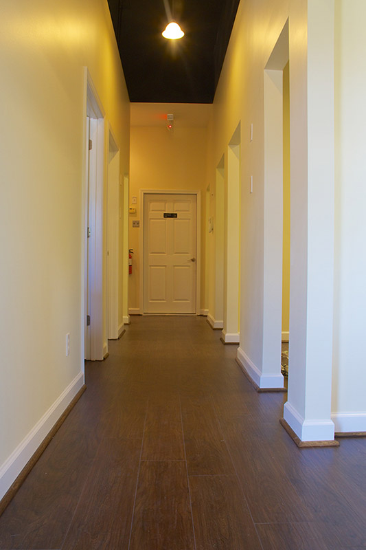 hallway to operatories